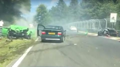 Choque en Nürburgring