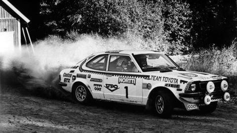 El Corolla 1.6 RS logró la 1ª victoria de Toyotra en el WRC en 1975