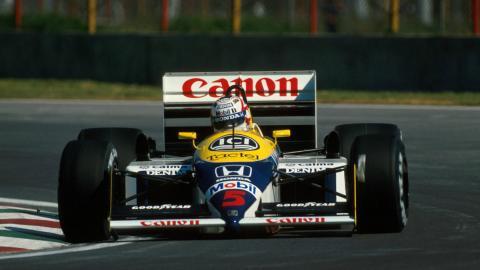 Nigel Mansell, con un par
