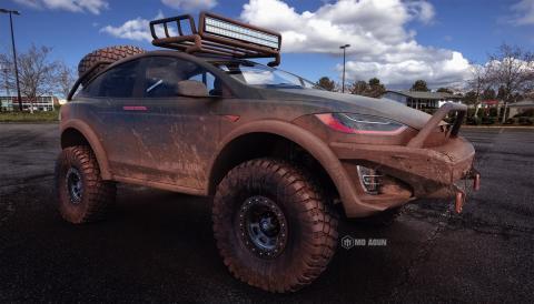 Tesla Model X Dakar