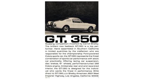 Anuncio Mustang GT 350