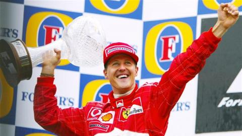 Most podiums 2002 Schumi