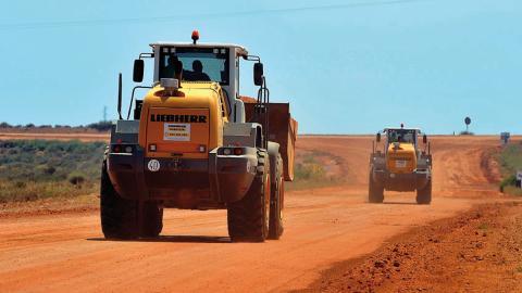Probando tractores en el CEMA