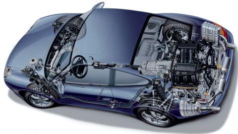 Los tres peores motores de seis cilindros - Porsche 911 (996) 3.6 bóxer