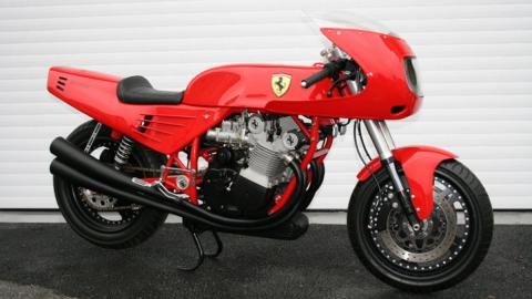 La única moto Ferrari que existe