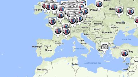 Concesionarios Alpina mapa