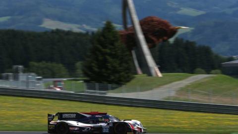 El Ligier de United Autosports en plena acción en Austria