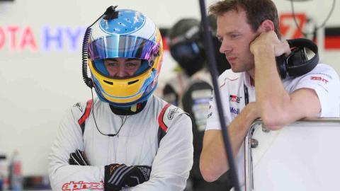 Fernando Alonso en su test con Toyota de Le Mans