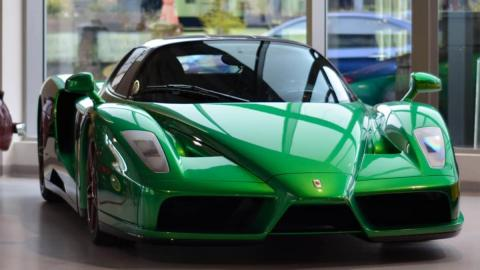 Ferrari Enzo verde one-off emerald green superdeportivo unico exclusivo