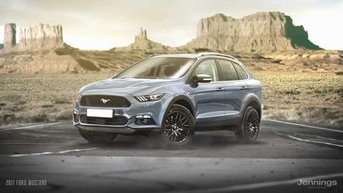 Un Ford Mustang convertido en SUV