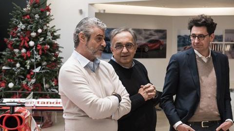 Marchione, Arrivabene y Binotto