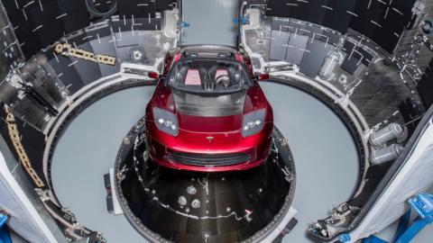 Tesla Roadster espacio