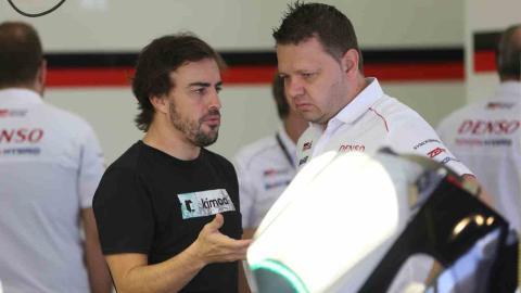 Test Alonso Le Mans