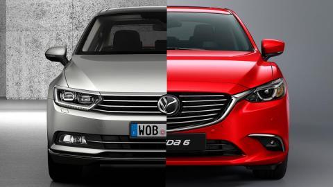 comparativa berlinas medias Mazda