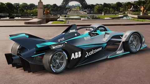 Los coches de la Fórmula E: plano lateral