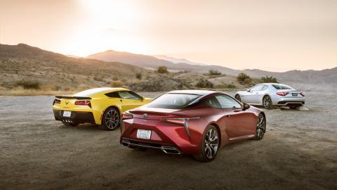 Comparativa Chevrolet Corvette Grand Sport, Maserati GranTurismo Sport y Lexus LC 500
