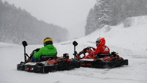 Kimi se pasa al snow karting