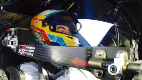 Alonso probando el TS050