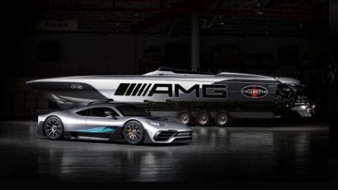 Cigarette Racing 515 Project One Mercedes AMG y su 'utilitario'