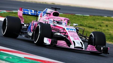 Nikita en el VJM11 F1 2018