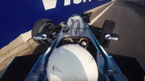 Piña de Orlando Bloom con un Fórmula E