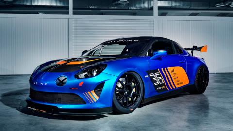 Alpine A110 GT4 (lateral)