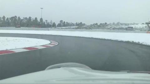 nevado cataluña barcelona formula 1 test entrenamiento