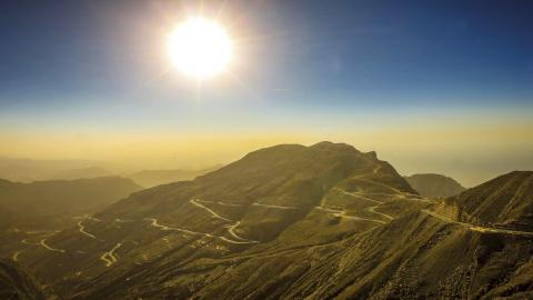 Jabal-Jais (puesta de sol)