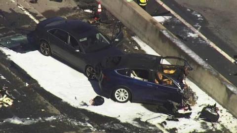 coches autonomos accidentes eeuu incendio brutal