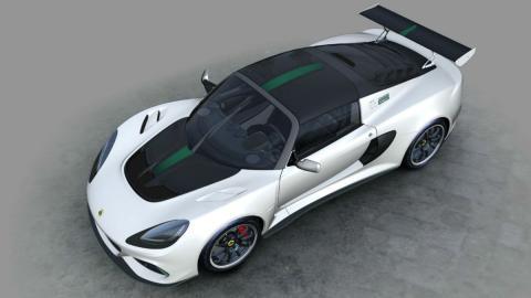 Cenital del Lotus Exige Cup 430 Type 25  blanco