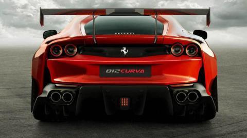 Ferrari 812 Curva render
