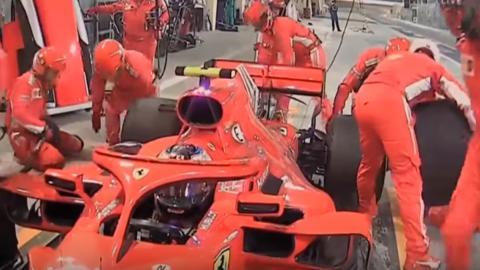 Kimi atropella a un mecánico en Baréin F1 2018