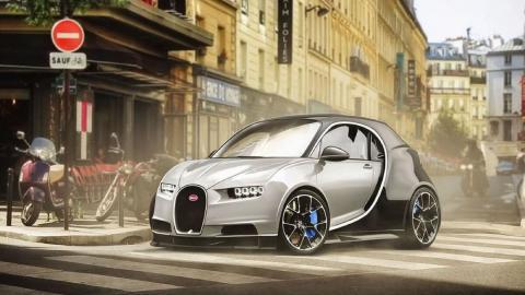 Render Bugatti utilitario