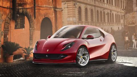 Render Ferrari utilitario