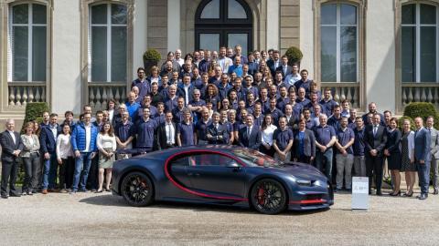 Bugatti Chiron número 100