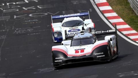 Flipa con los Porsche 919 Hybrid y 956 C en Nürburgring