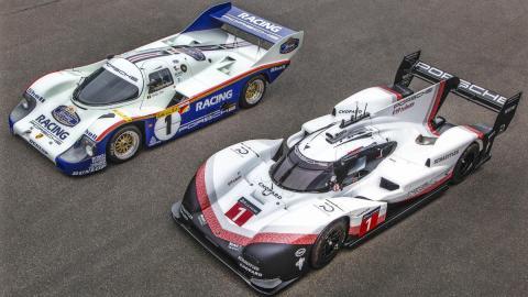 General de los Porsche 956 y 919 en Nurburgring