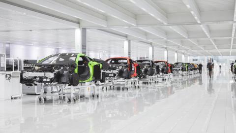 McLaren planta de producción
