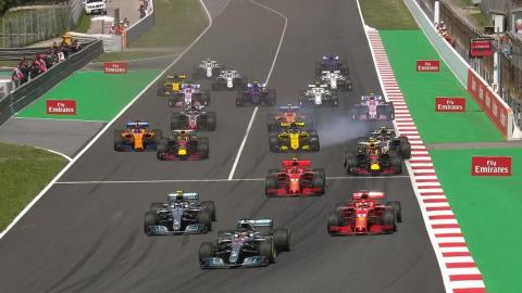 Salida GP España F1 2018