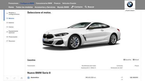 El configurador del BMW Serie 8