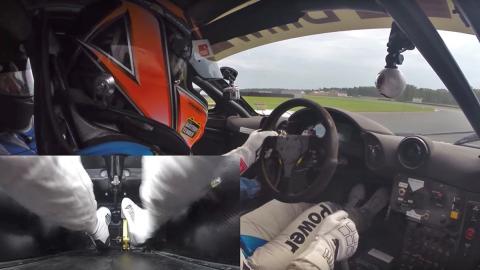 Un maestro del punta-tacón a bordo de un McLaren F1 GTR