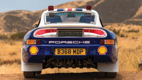 Trasera del Porsche 959 Rallye París-Dakar 1985