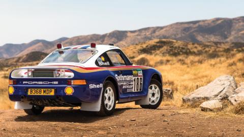 Zaga Porsche 959 Rallye París-Dakar 1985