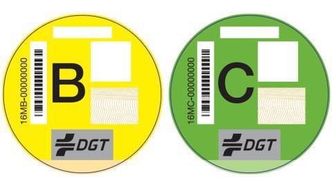 Etiqueta DGT B y C