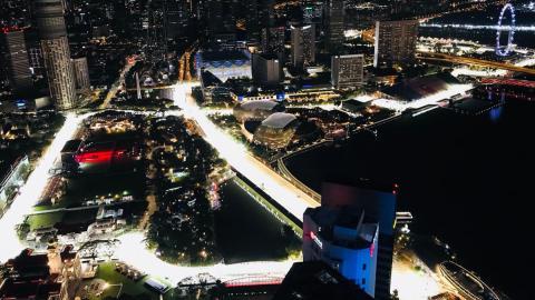 Cosas del GP de Singapur F1