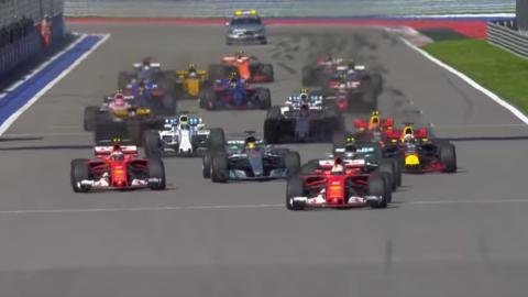 Momentos más espectaculares del GP Rusia F1