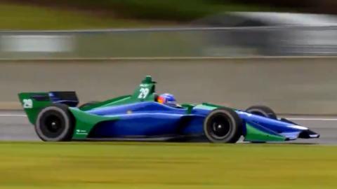 Vídeo del test de Alonso en la IndyCar