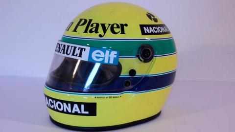 Casco de Ayrton Senna 1985
