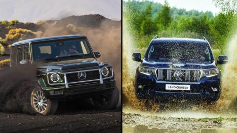 Mercedes Clase G vs Toyota Land Cruiser