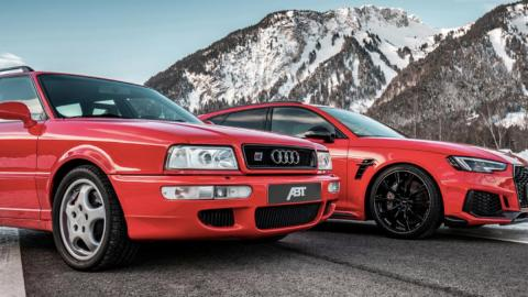 Audi ABT RS2 y Audi ABT RS4+, tres cuartos delantero